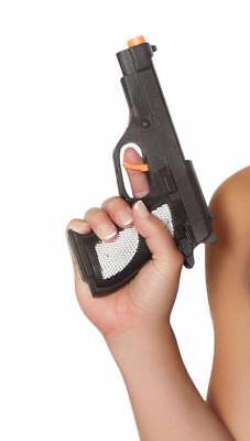 Ladies Mafia Costume (Gun Costume Accessory Toy Prop Pistol Police Mafia Military Mobster)