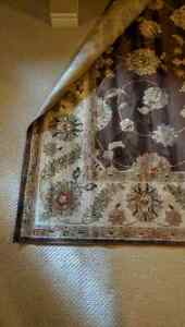 Large brown area rug 93 inches by 134  London Ontario image 3