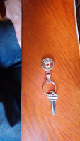 Key on ring - Canada flag picture- Somerset
