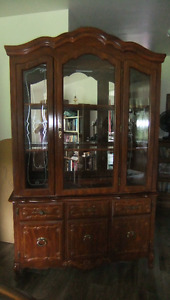 Lovely Antique China Cabinet with Lighting
