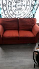 2 seater sofa ORANGEY RED