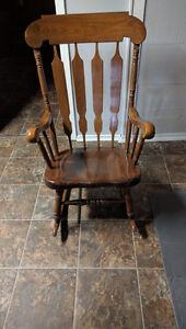 Hand made antique rocking chair London Ontario image 1