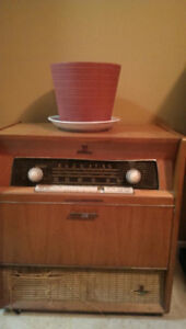 Antique record player and stereo