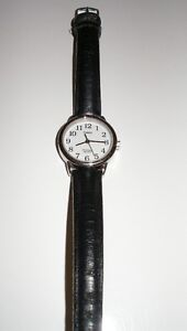 Watch Black and Silver