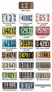 WAITING BUYER FOR EARLY MARITIME AND NEW BRUNSWICK AUTO PLATES