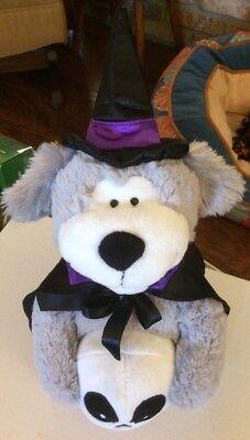 Sound N Light Dog plush plays Halloween The Adams Family song light - Animal Sounds Song Halloween