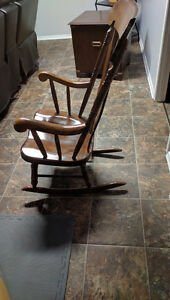Hand made antique rocking chair London Ontario image 2