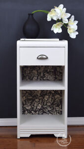 Bedside table, End Table, modern, white, good for small space