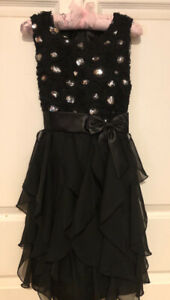 Flower girl dress, black, size 8-10, worn once, $25