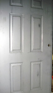 NEW COLONIAL METAL DOOR- SOLID AND HEAVY. CUSTOM SIZE,Unpainted