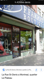 PREMIUM STORE FOR RENT IN THE HEART OF PLATEAU MONT -ROYAL