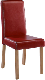 6 x Oakridge Dining Chairs (Red) - Only £199!