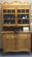 Antique Wooden Buffet and Hutch