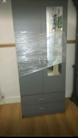 Wardrobe for sale brand new grey