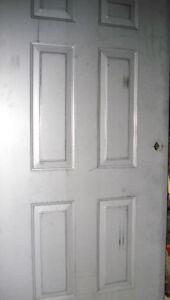 New- Unpainted. Steel Entry Door, Fire grade safe.