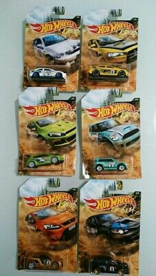 HOT WHEELS RALLY SERIES FULL SET DIECAST SUBARU, VOLKSWAGEN, LANCER ETC 1:64