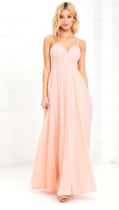 Lulus Blush Maxi Dress