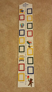 NEW wooden growth chart with picture frames