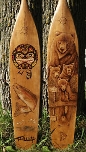 ORIGINAL AND UNIQUE WOODBURNED PADDLES-COMMISSIONS, GIFTS, ETC. Peterborough Peterborough Area image 7