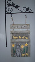 Cute Bunny Welcome Plaque - great condition