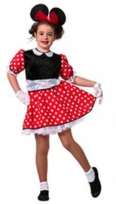 Micky Mickey Minny Minni Minnie Maus Mouse Disnay Kleid Kostüm Damen Mädchen ()