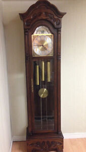 Solid Wood GRANDFATHER Clock Dark Brown Finish
