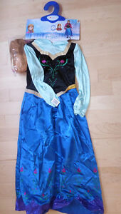 NEW Deluxe Frozen ANNA costume with wig, size 7 - 10 years