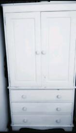 Pine wardrobe linen cupboard