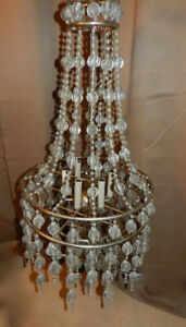 NEW 70%OFF Theatrical Designer 4' Crystal Chandelier