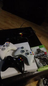 Xbox 360 with 4 games and 3 consoles / 1 new console