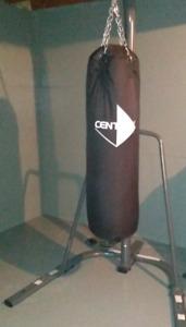 Century heavy vinyl bag and stand