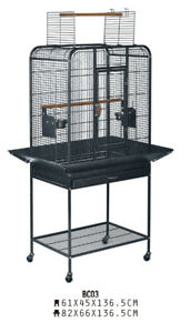 BRAND NEW Beautiful Parrot Bird Cage With Open Top & Stand For