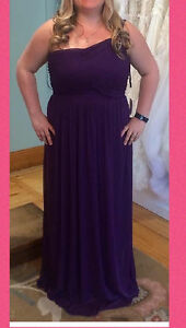 Majenta bridesmaid dress