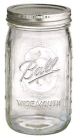 8 BALL MASON JARS Ball Mason Glass Preserving Homemade Jam Jars 945ml