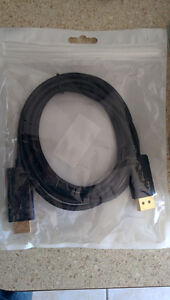 Display port to HDMI cable New 6 Feet with audio support