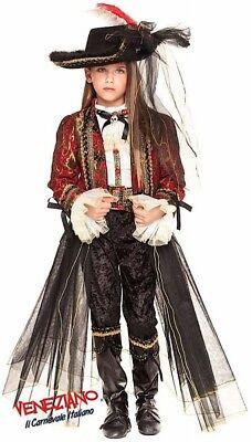 Italian Mädchen Luxus Piraten Halloween Karneval Kostüm Kleid Outfit 3-10yr (Mädchen Piraten Outfit)