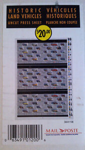 Canada 1996 Mint Stamps Historic Land Vehicles Uncut Press Sheet