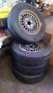 Winter Tires on Rims - 215 / 70 R 15