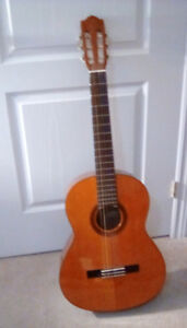 Classical Guitar with tuner, capo and strap