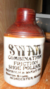SWAN VINTAGE SHOE POLISH CONTAINER