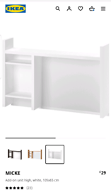 Shelfs for Ikea mike desk
