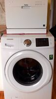 Front load washer, dryer, counter-top dishwasher