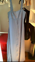 "David's Bridal empire waist lavender gown - robe style ""empire"""