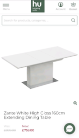White Gloss Extendable Dining Table & 6 Chairs