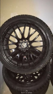 18 MSR wheels & tires 18x8 fit 5x100/5x114.3 (5x4.5) +35