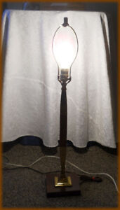 Vintage LAMP -  ( Wood and Brass ) - MISSION STYLE