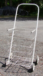 Portable, fold-up wire cart