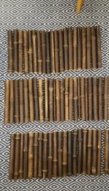Decorative Treated Bamboo Canes/Sticks, 60 pieces, 28cm long