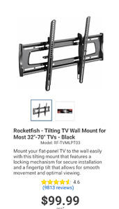 "Rocketfish -  Tilting TV Wall Mount for most 32""-70"" TVs"