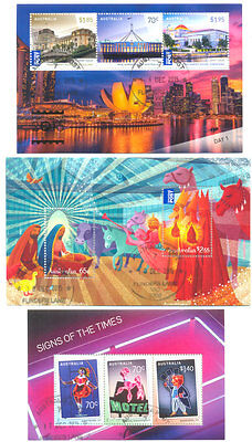 Australia 2015 3 Special Min sheets fine -used cto